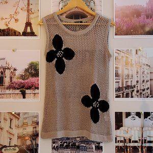 Bylyse Knit Floral Tank Top